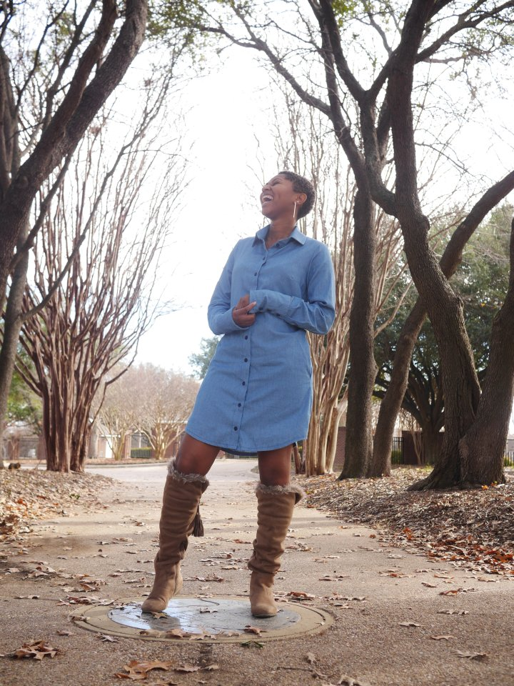 Styled 3 Ways: Chambray Shirtdress (Simplicity8546)