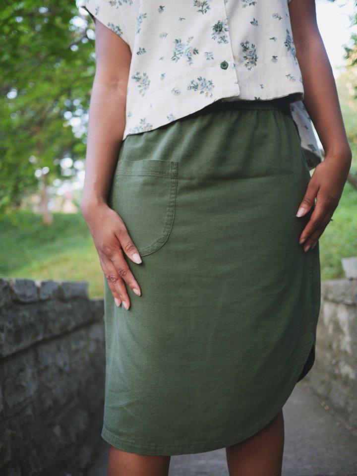 Olive Roma Midi Skirt + Sewalong &Discount